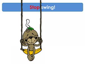 monkey on a swing